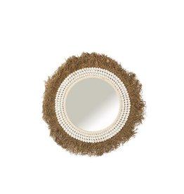 Spiegel Schelpen Raffia Large
