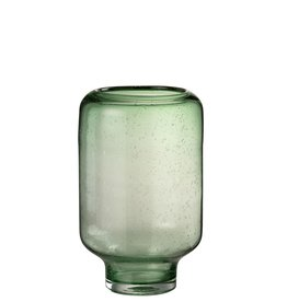 Vaas Groen Glas Rond Medium