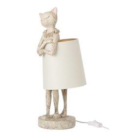 Lamp Kat Polyresin Grijs