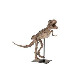 Beeld Dinosaurus T-Rex op Voet Bruin