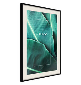 Poster - Banana Leaves with a Message (Green)