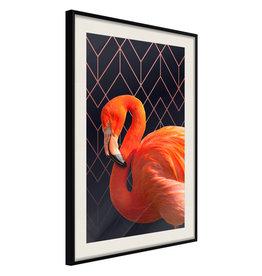 Poster - Orange Flamingo