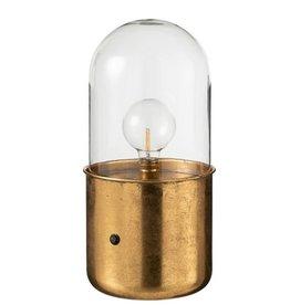 Tafellamp Antiek Goud Zink