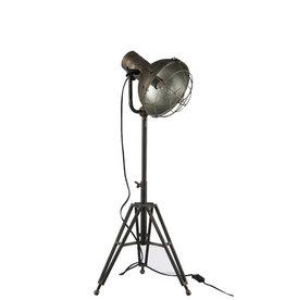 Staanlamp Grijs Metaal Rond