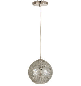 Hanglamp Zilver Mozaiek Glas
