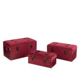 Koffers Set van 3 Velvet Bordeaux