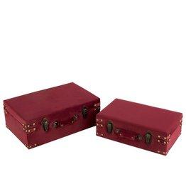 Koffers Set van 2 Velvet Bordeaux