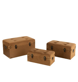 Koffers Set van 3 Velvet Bruin