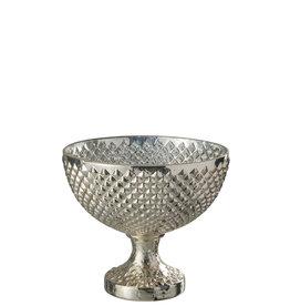 Schaal op Voet Zilver Glas