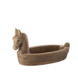 Schaal Bruin Paard Hout Small