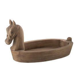 Schaal Bruin Paard Hout Large