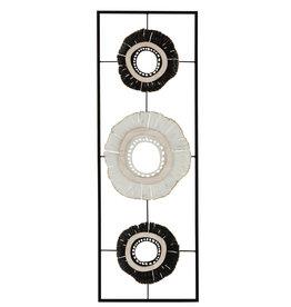Wanddecoratie Wit Zwart Cirkels Metaal