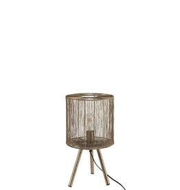 Tafellamp Bruin Metaal Antiek