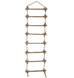 Decoratieve Ladder Hangend Jute Hout