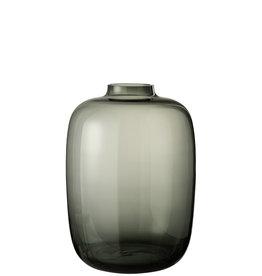 Vaas Grijs Glas Large