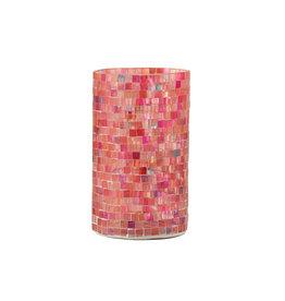 Theelichthouder Cilinder Mozaiek Large