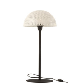 Tafellamp Paddenstoel Wit Zwart L