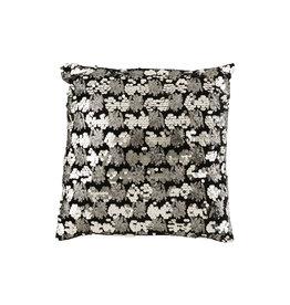 Kussen Pailletten Velvet Zwart Zilver