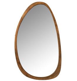Spiegel Onregelmatig Mango Hout Bruin