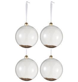 Kerstballen Transparant Goud L Set van 4