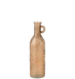 Vaas Fles Cilinder Glas Bruin