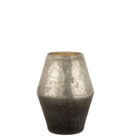 Vaas Malou Glas Zilver Grijs Small