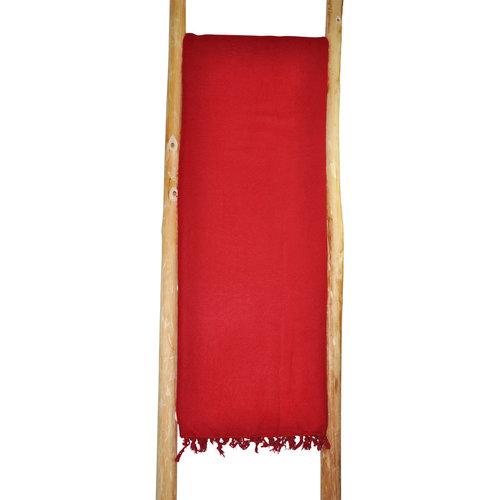 Dieses schöne Rote decke ist handgefertigd in Nepal. Schöne Couchdecke | Tolle Farbe | Warm | sticht nicht