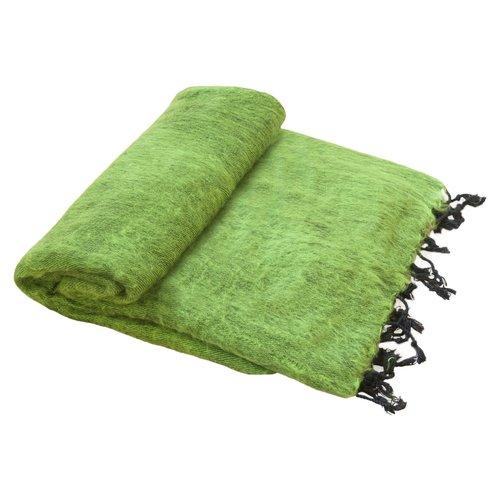 Dieses schöne Grasgrüne decke ist handgefertigd in Nepal. Schöne Couchdecke | Tolle Farbe | Schneller Versand