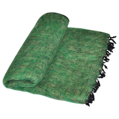 Dieses schöne Grüne decke ist handgefertigd in Nepal. Schöne Couchdecke | Tolle Farbe | Warm | sticht nicht