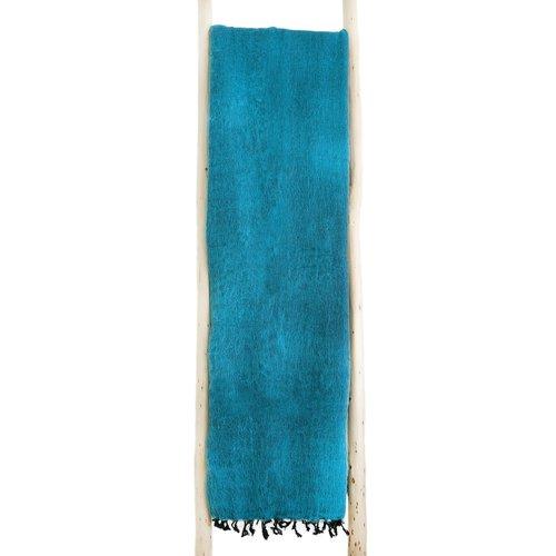 Dieses schöne Türkis decke ist handgefertigd in Nepal. Schöne Couchdecke | Tolle Farbe | Warm | sticht nicht