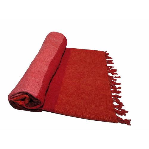 Dieses schöne Rose Rot Orange gestreifte decke ist handgefertigd in Nepal. Warm | Weich | sticht nicht | Perfekt für das Sofa | Schneller Versand