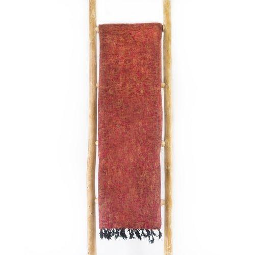 Dieses schöne Ziegelrote decke ist handgefertigd in Nepal. Warm | Weich | sticht nicht | Perfekt für das Sofa | Schneller Versand