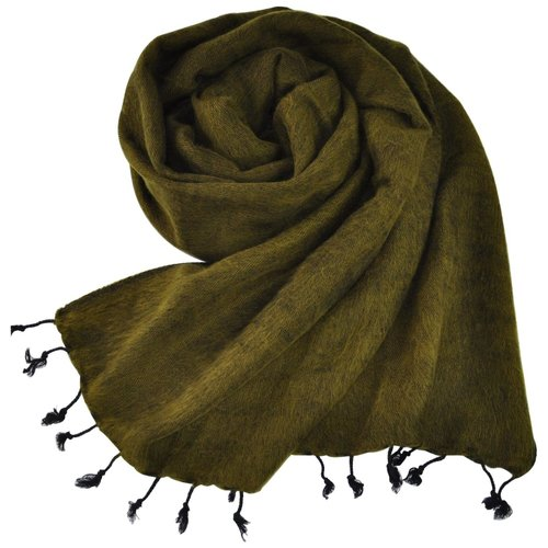 Nepal Schal Olivgrün #918