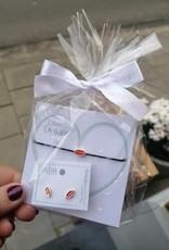 Biba Geschenkpakket Biba oorbellen met armbandje