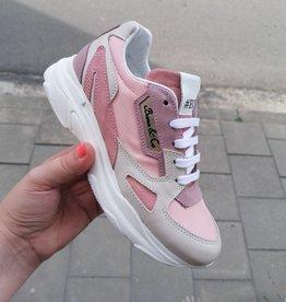 Bana & co Bana&co sneaker wit/zalmroze