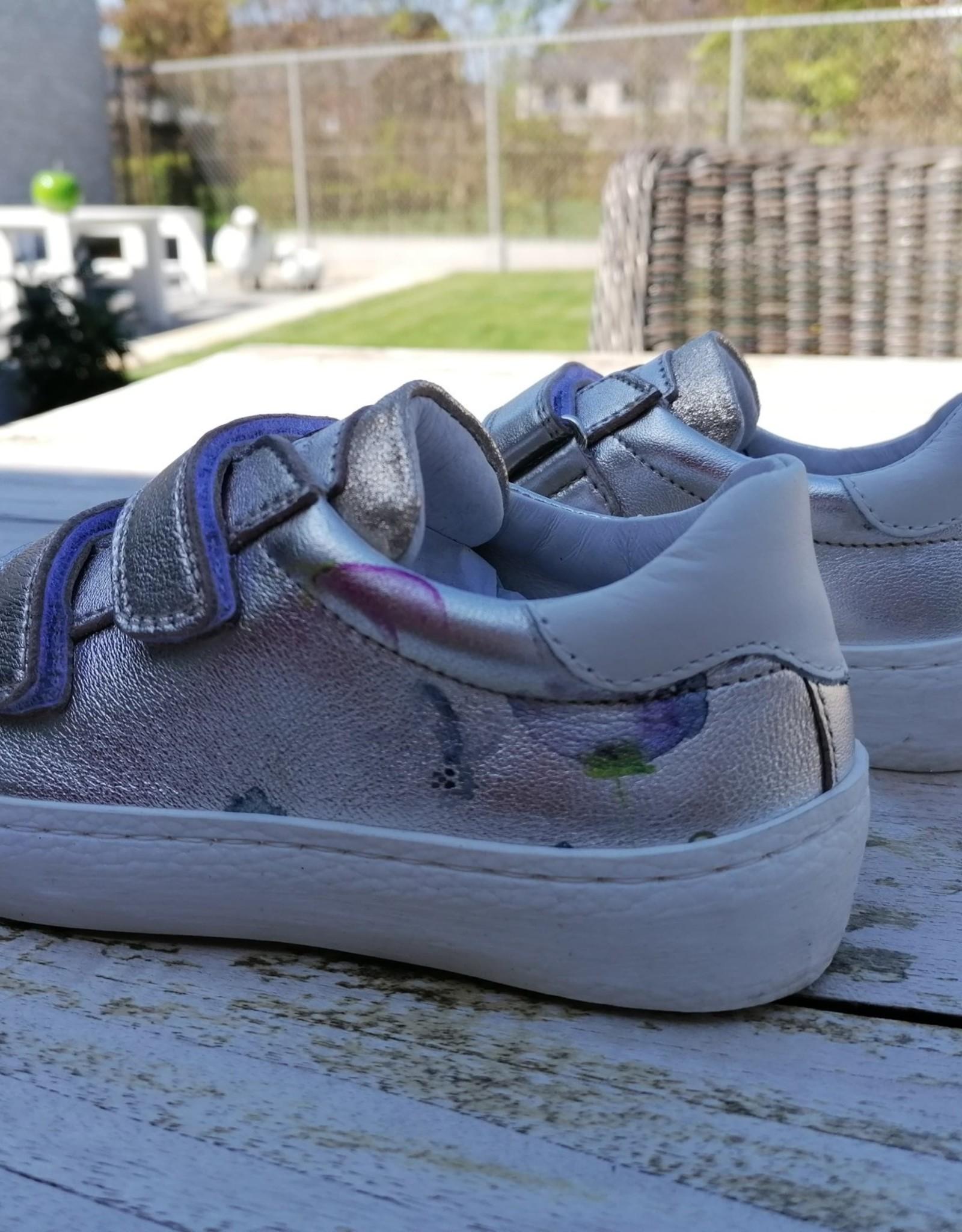 Romagnoli Romagnoli sneaker goud met bloemenprint