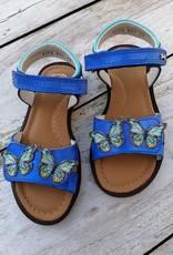 Stones And Bones Stones And Bones sandaal in blauw met vlinders