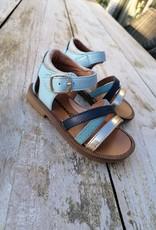 Romagnoli Romagnoli sandaal blauw met gesloten hiel