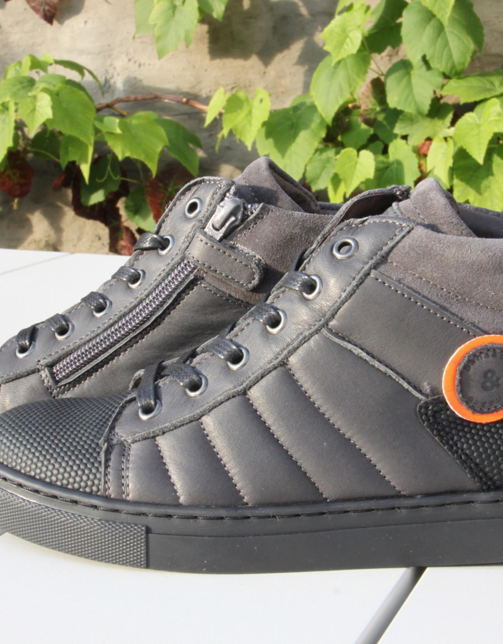 Bana & co 20237505 Bana & Co hoge sneaker antracite
