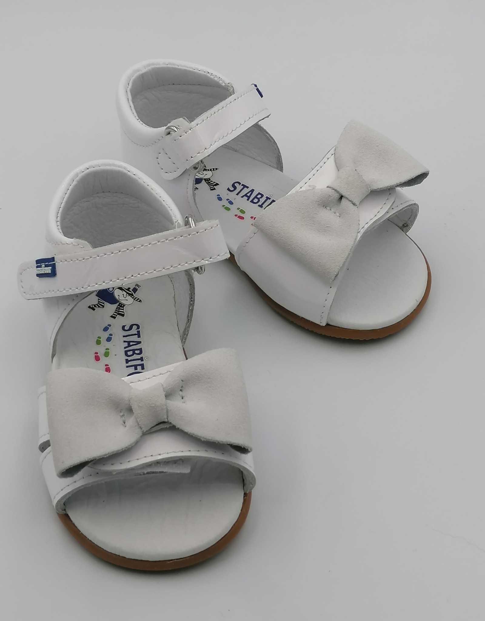 Stabifoot Stabifoot sandaal strikje wit