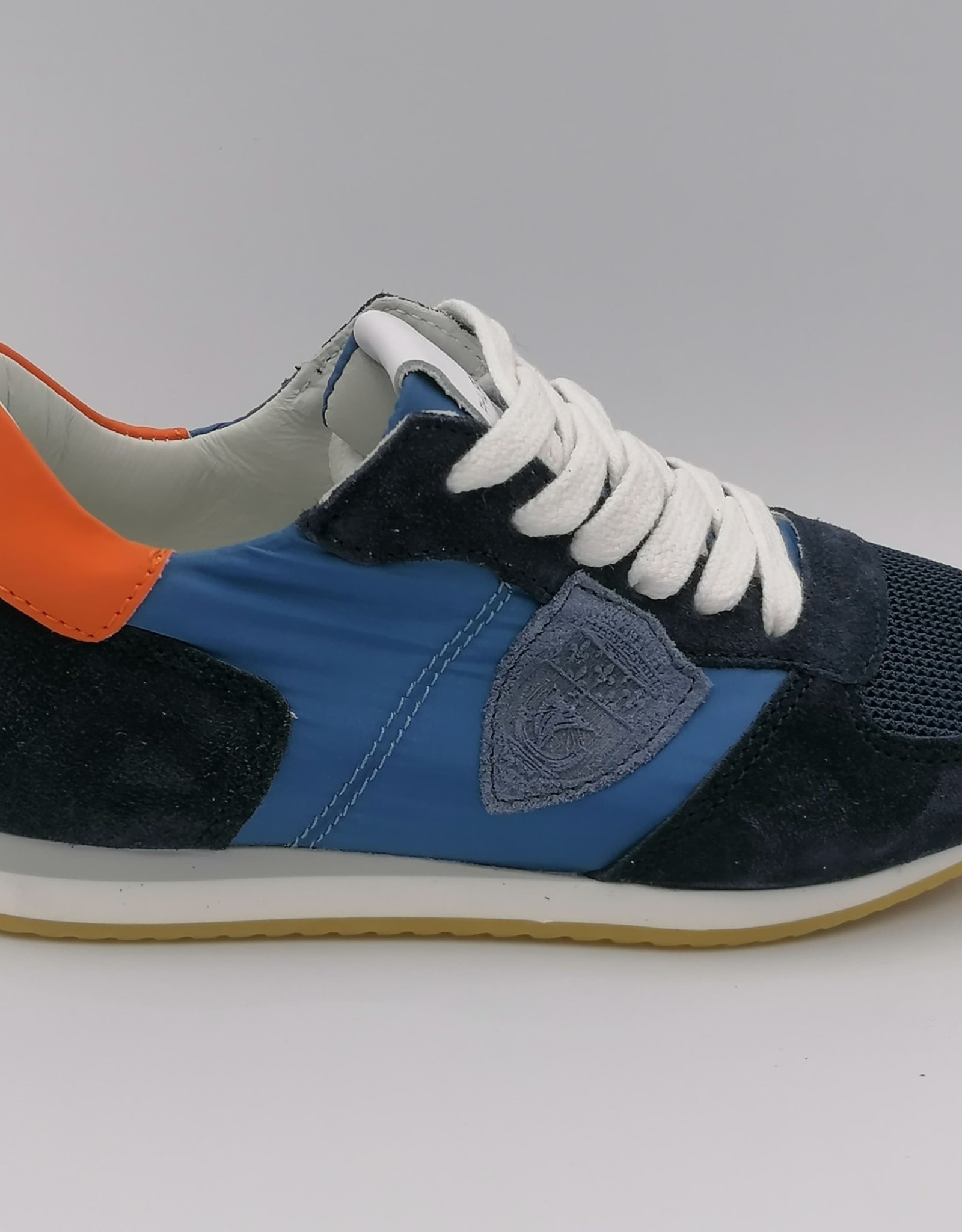 Philippe Model Philippe Model sneaker blauw oranje
