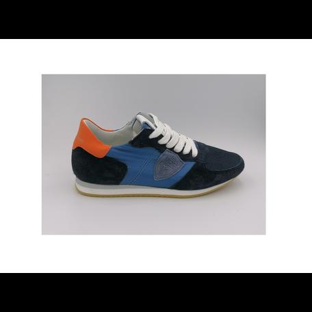 Sneaker blauw oranje