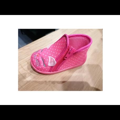 Pantoffels roze poes
