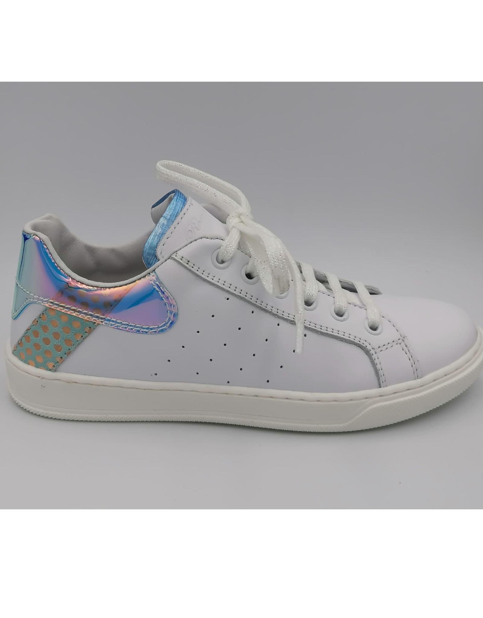 Romagnoli Romagnoli witte sneaker met licht blauw