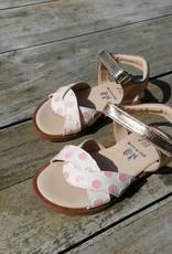 JFF Jff sandaal wit met roze bolletjes