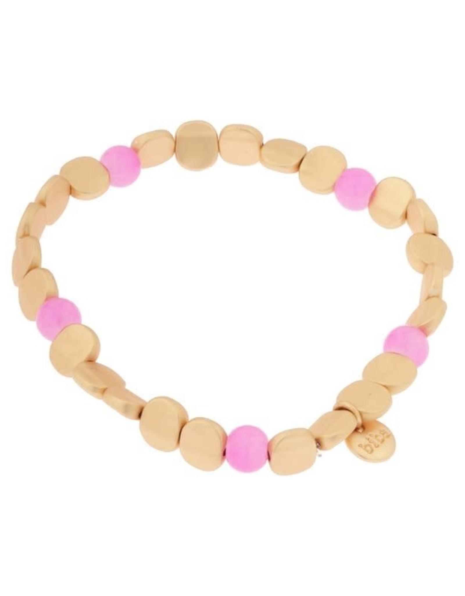 Biba Biba armband   licht roze plat