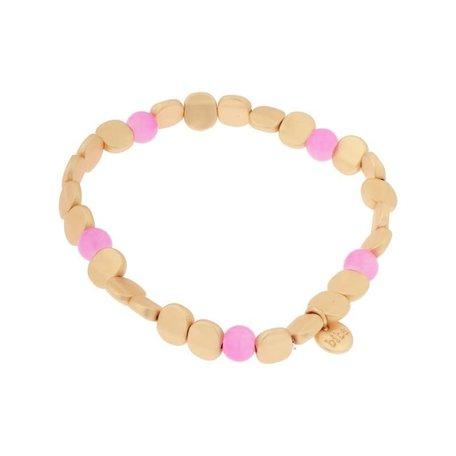 Armband   licht roze plat