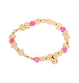 Biba Biba armband   fel roze plat