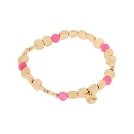 Armband   fel roze plat