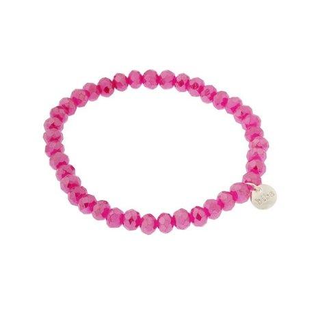 Armband roze dik